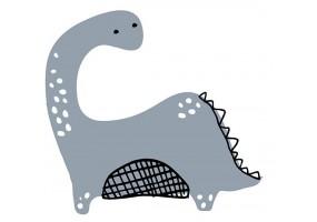 Sticker dino gris