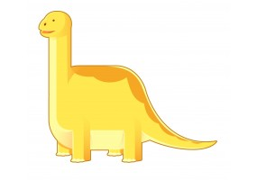 Sticker dino jaune