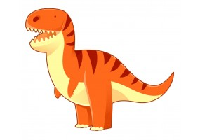 Sticker dino orange