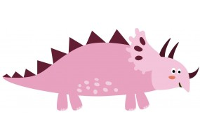 Sticker dino rose