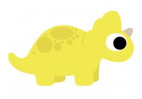 Sticker dinosaure bébé jaune