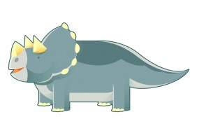 Sticker dinosaure corne