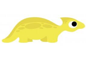 Sticker dinosaure jaune