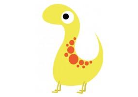 Sticker dinosaure jaune tacheté