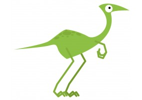 Sticker dinosaure long vert