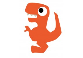 Sticker dinosaure orange