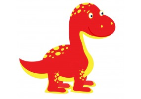 Sticker dinosaure rouge