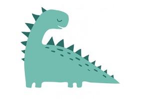Sticker dinosaure vert écailles