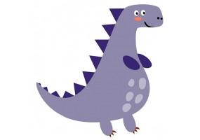Sticker dino violet