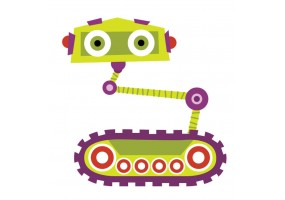 Sticker robot chenille