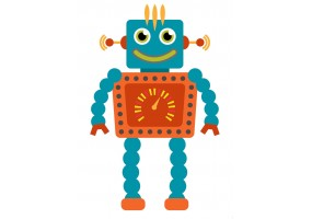 Sticker robot orange
