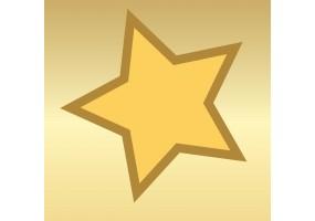 Sticker mural étoile dorée