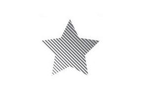 Sticker étoile rayure