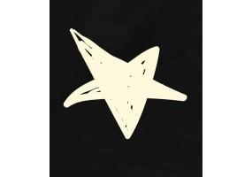 Sticker dessin étoile blanche