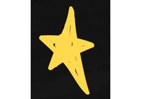 Sticker dessin étoile jaune