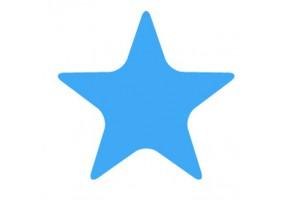 Sticker étoile bleue
