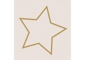 Sticker étoile contour doré