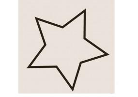 Sticker étoile contour noir