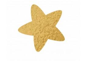 Sticker étoile dorée