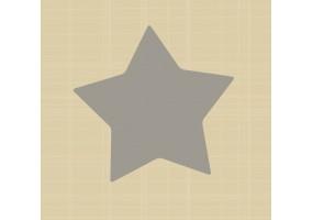 Sticker étoile grise