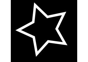 Sticker étoile noire