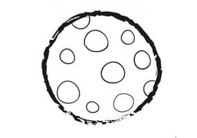 Sticker lune pleine
