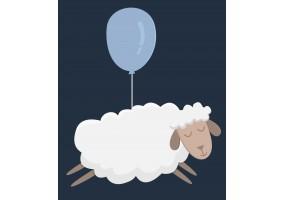 Sticker mouton ballon
