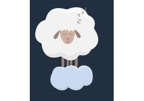 Sticker mouton nuage