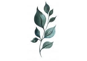 Sticker mural branche feuilles