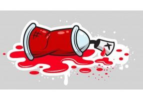 Sticker bombe peinture tag rouge