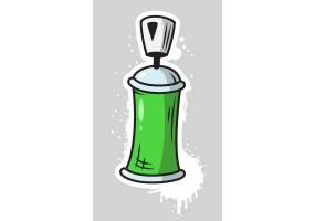 Sticker bombe peinture tag verte