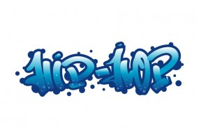 Sticker mural tag street art hip hop