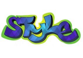 Sticker tag street art style
