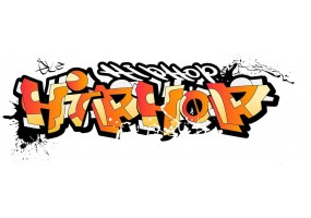 Sticker tag street art hip hop