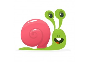 Sticker dessin escargots