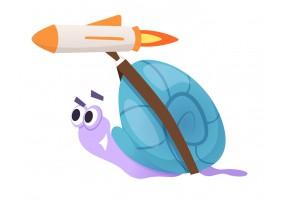 Sticker escargot fusée