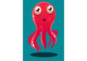 Sticker pieuvre