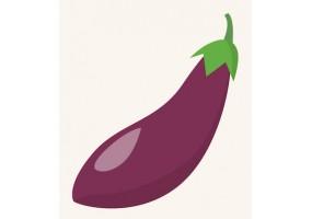 Sticker aubergine