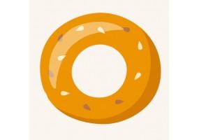 Sticker bagel