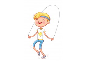 Sticker garçon gym corde à sauté
