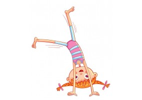 Sticker fille gymnastique