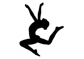 Sticker gymnaste saut