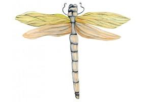 Sticker libellule jaune