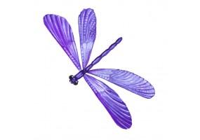 Sticker libellule violette