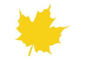 Sticker feuille jaune