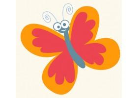 Sticker mural papillon