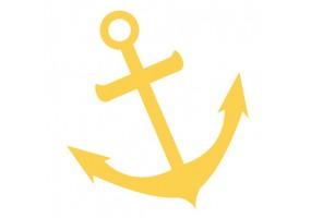 Sticker ancre bateau