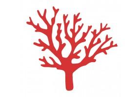 Sticker corail rouge