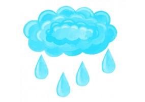 Sticker nuage pluie