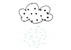 Sticker mural nuage pluie